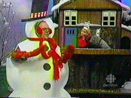 mr Dressup Drawing mr Dressup as a Snowman