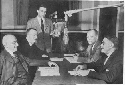 Dr Harry Rockwell, Msgr. Timothy Coughlin, and Dr. Samuel P. Capen